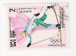 KAMPUCHEA 1984 OLIMPIADI SARAJEVO 1984 SCI USATO - Kampuchea