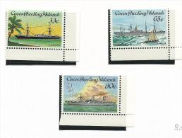 COC002 - COCOS ISLAND - NAVI N. 128-30 - CATALOGO YVERT - Isole Cocos (Keeling)