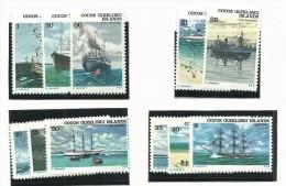 COC003 - COCOS ISLAND - BATTELLI N. 20-31 - CATALOGO YVERT - Isole Cocos (Keeling)