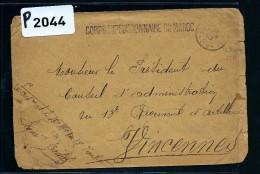 FRANCE -MAROC LETTRE DU  CORPS EXPEDITIONNAIRE   1909 DETAILLONS COLLECTION  A VOIR - Covers & Documents