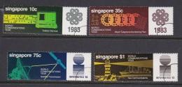 Singapore 1983 World Communications Year Used Set - Singapore (1959-...)