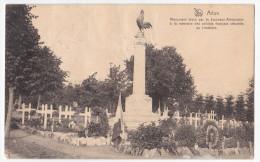 Arlon Cpa  Monument élevé Pour La Jeunesse Arlonnaise à La Mémoire Des Soldarts Français Inhumés - Arlon