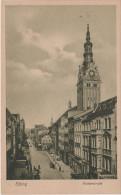 AK Elbing Elblag Fischerstrasse Katholische Kirche ? Katedra Rathaus ? Markt ? Rynek ? Mostowa ? Rybacka ? - Ostpreussen