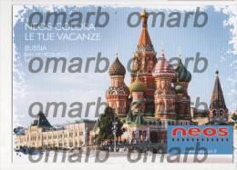 Fre257 Freecard Promozionale Neos Air Airline Airways Compagnie Aerienne Vacanza Russia San Pietroburgo Mosca Moscow - Otros