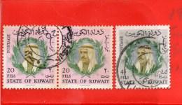 KUWAIT 1966 SHEIK SABAH as SALIM as SABAH USED     B1/K10