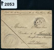 FRANCE -MAROC LETTRE DU CORPS DE DEBARQUEMENT DE CASABLANCA  1909    DETAILLONS COLLECTION  A VOIR NOMBREUX AUTRES LOT - Marokko (1891-1956)