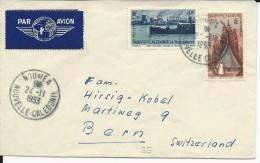 NOUVELLE CALEDONIE - 1953 - ENVELOPPE PAR AVION De NOUMEA Pour BERN (SUISSE) - Neukaledonien
