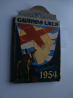 Calendrier Grands Lacs 1954 : Congo, Ruanda, Urundi, Sahara, Thysville, Tatouage - Calendriers