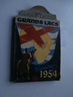 Calendrier Grands Lacs 1954 : Congo, Ruanda, Urundi, Sahara, Thysville, Tatouage - Kalenders