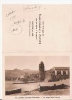CALENDRIER PUB ETS OLIVER VINS DE MESSE ET DE DESSERT BANYULS SUR MER (PHOTO DE COLLIOURE) 1935 - Kalenders