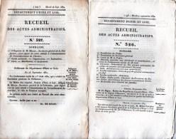 Eure Et Loir, 3 Recueils Des Actes Administratifs Année 1830. Recrutement, Armement, Police, Préfet, Garde Nationale. - Décrets & Lois