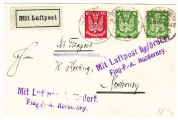 Deutsches Reich Flugpost Brief 7.8.1925 Nach Norderney - Poste Aérienne