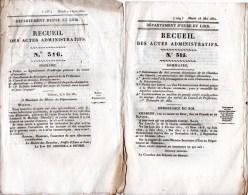 Eure Et Loir, 6 Recueils Des Actes Administratifs Année 1830. Recrutement, Armement, Conseil De Révision, Police. - Décrets & Lois