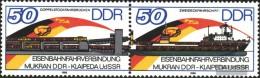 DDR WZd692 (completa.edizione) (3052-3053 Rispetto A Coppia) MNH 1986 Treno Traghetto - Se-Tenant
