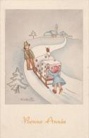 Cpa/pk 1914 Bonne Année Christmas - Illustrateurs & Photographes