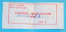 RARE - ticket fine!! Billet d'amende!