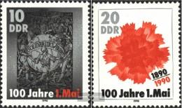DDR 3322-3323 (kompl.Ausgabe) Postfrisch 1990 Tag Der Arbeit - Neufs