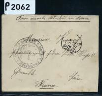 FRANCE -MAROC LETTRE DES FORCES NAVALES DETACHEES AU MAROC  1908  DETAILLONS COLLECTION  A VOIR NOMBREUX AUTRES LOT - Marokko (1891-1956)