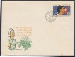 1970-FDC-4  CUBA. FDC. 1970. X ANIV FEDERACION DE MUJERES CUBANAS. - FDC