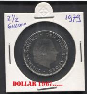 KM 197 - NETHERLANDS-Pays-Bas- Nederland *    2½ Gulden 1979 - 1948-1980 : Juliana