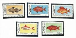 SAM001 - SAMOA - PESCI - N. 616-20 - CATALOGO YVERT - Samoa