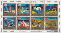 Ajman 2669A-2676A Minifoglio (completa Edizione) Usato 1973 Apollo-Programma - Verenigde Arabische Emiraten