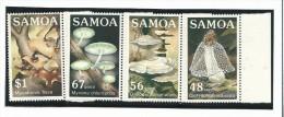 SAM004 - SAMOA - FUNGHI - N. 580-83 - CATALOGO YVERT - Samoa
