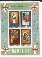 SAM006 - SAMOA - NATALE 1975 - FOGLIETTO - CATALOGO YVERT - Samoa