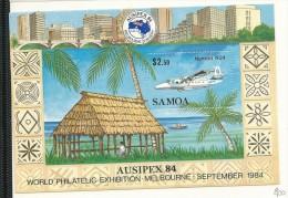 SAM007 - SAMOA - AUSIPEX 1984 - AEREO - FOGLIETTO - CATALOGO YVERT - Samoa