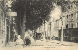 93 AULNAY SOUS BOIS - AVENUE DU CHEMIN DE FER - LA GENDARMERIE ( ATTELAGE ) - Aulnay Sous Bois