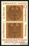 BRD (BR.Deutschland) 585 (kompl.Ausgabe) Postfrisch 1969 20 Jahre BRD - Unused Stamps