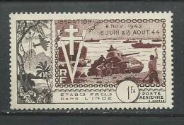"Inde Fr. / Etablissement En Inde  ""1954""  Scott No. C18  (N**)  Poste Aérienne - India (1892-1954)"