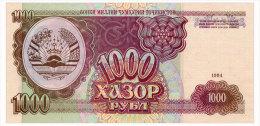 TADJIKISTAN 1000 RUBLES 1994 Pick 9 Unc - Tajikistan