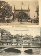 STRASBOURG LOT DE 2 CP AVEC TRAM TRAMWAY - Strasbourg