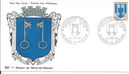 Armoiries Mont De Marsan 22 01 1966 - FDC