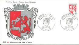 Armoiries Auch  22 01 1966 - FDC