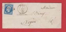 Lettre   De Figeac   --  Pour Nogaro  --   1 Mai 1860 - 1849-1876: Periodo Classico