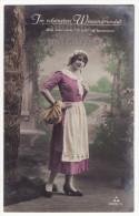 BEAUTIFUL GIRL FROM SWISS VILLAGE ~1911 Tinted Real Photo Postcard~SWITZERLAND [5743] - Europe