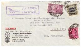 Brasilien Rio 30.3.1932 Luftpost Brief Der Firma Bayer Chimical Nach Recife Pernambuco - Poste Aérienne