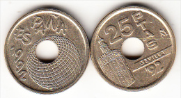 ESPAÑA 1992 .25 Pts.EXPO SEVILLA ´92  NUEVA SIN CIRCULAR. CN4141 - [ 5] 1949-… : Reino