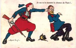 JE VAS TE MONTRER LE CHEMIN DE PARIS ... ZOUAVE - Illustrators & Photographers