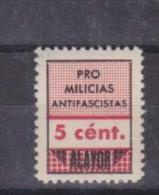Alayor Pro Milicias...5c Nuevo,         #923 - Emisiones Nacionalistas
