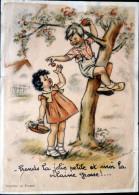 GERMAINE BOURET  PRENDS LA JOLIE PETITE ET MO ..... GRAVURE AUTHENTIQUE ET ANCIENNE ANNEE 1950 - Vieux Papiers