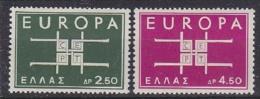 Europa Cept 1963 Greece 2v ** Mnh (19601A) Promo - Europa-CEPT