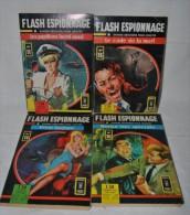 Lot 4 FLASH ESPIONNAGE N°11-13-14-16 - Comics Pocket AREDIT 1967 - Magazines
