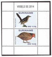 Surinam / Suriname 2014 Vogels birds S/S MNH
