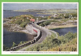 THE CASTLEBAR-BALLINA ROAD / OVER PONTOON BRIDGE / LOUGH CONN / FOXFORD / / CO. MAYO..../ Carte vierge