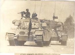 """Photo Ancienne """"Guerre Du Kippour - Les Chars Israéliens à Quelques Kilomètres De Damas"""" 1973 - Guerre, Militaire"""