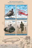 nig14118a Niger 2014 World War I WW1 Airplane s/s Bird Pegoin Zeppelin
