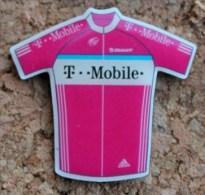 MAILLOT T MOBILE ADIDAS  ROSE  - CLUB - VELO - CYCLISTE - CYCLISME -   (12) - Radsport